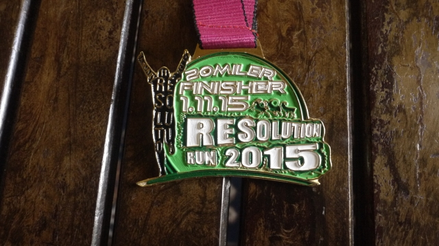 resolution run medal