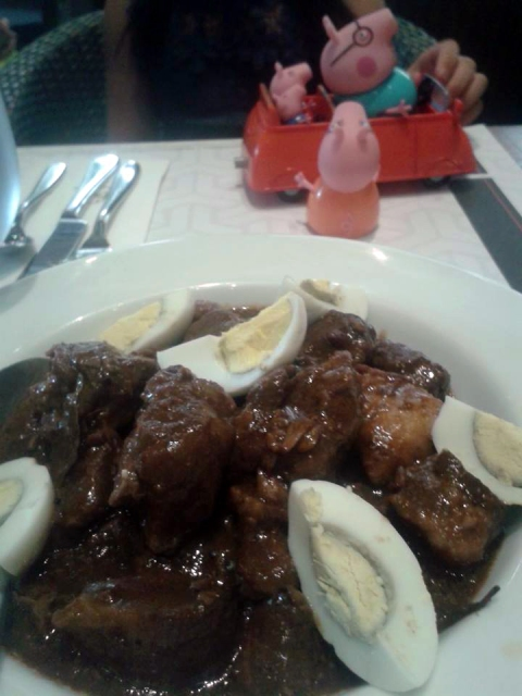 Pork adobo and Peppa Pig.